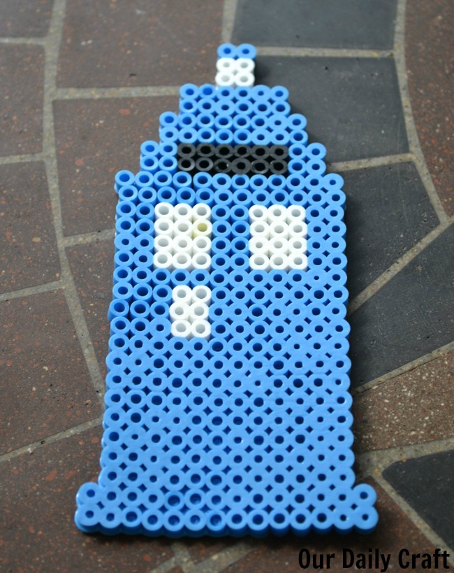 Make a TARDIS with Perler Beads