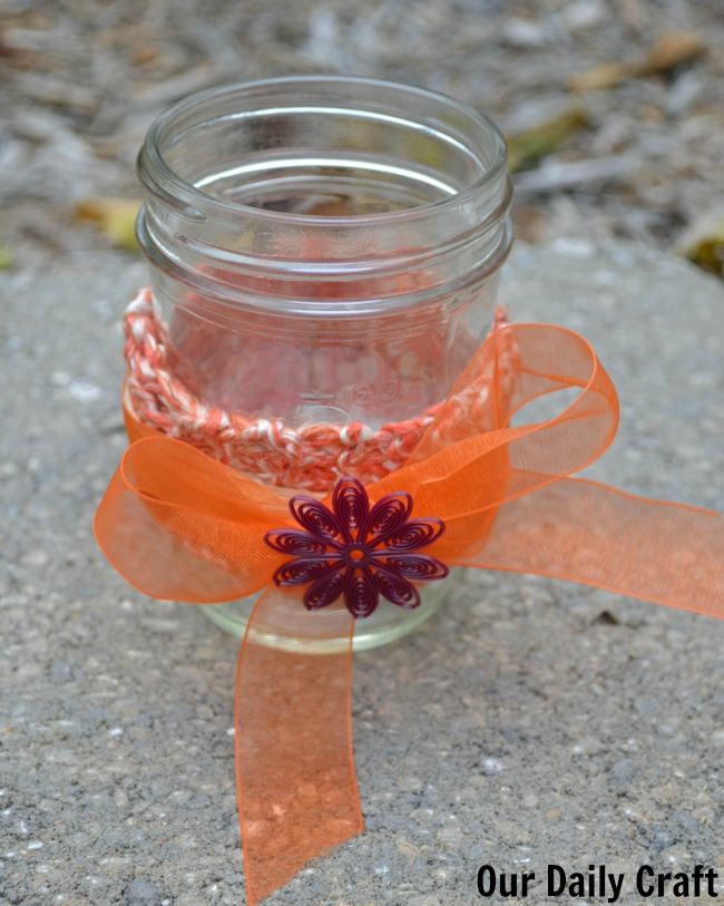 mason jar candle holder fall