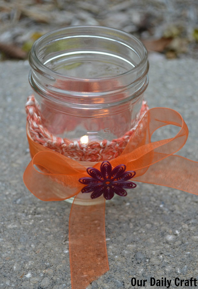 mason jar candle light
