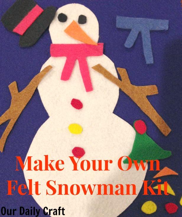build a felt snowman kit