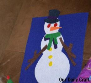 playing felt snowman