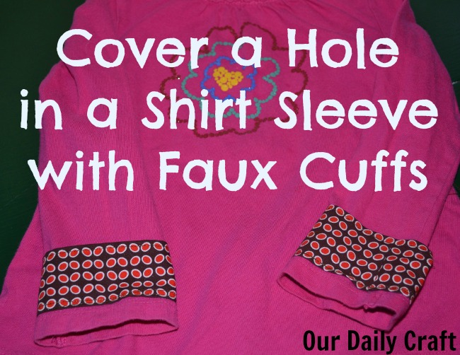 cuff to cover hole in shirt