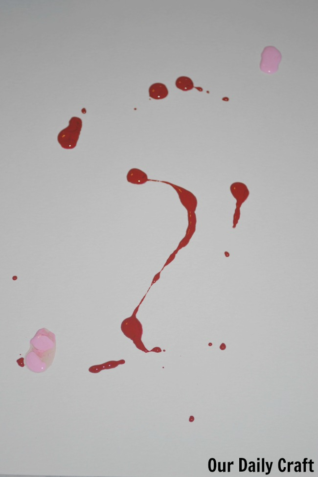 paint drops paper