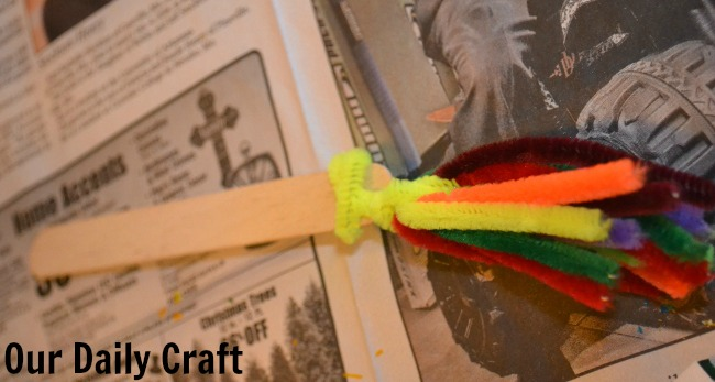 pipe cleaner paintbrush