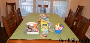 table setup craft playdate