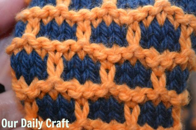 brick stitch scarf