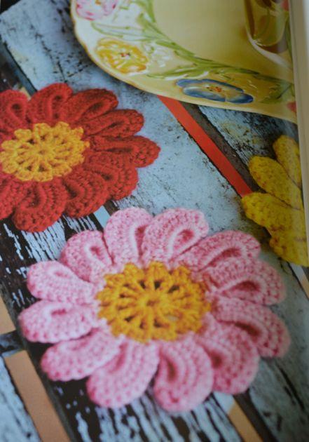 arne carlos crochet flower coaster