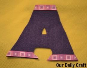 letter a bag monogram