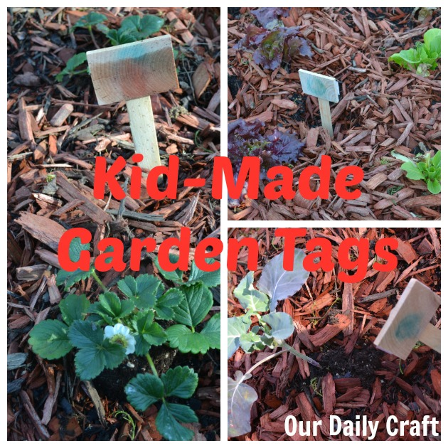 kid diy garden tags