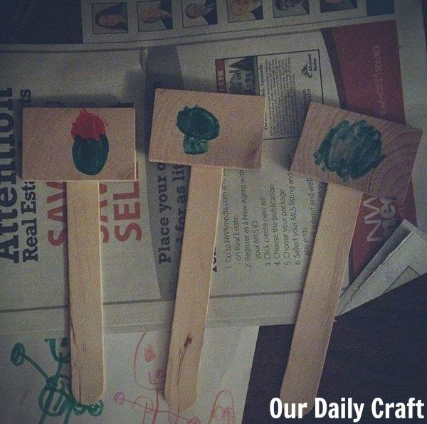 garden tag kid craft