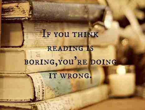 reading isn't boring
