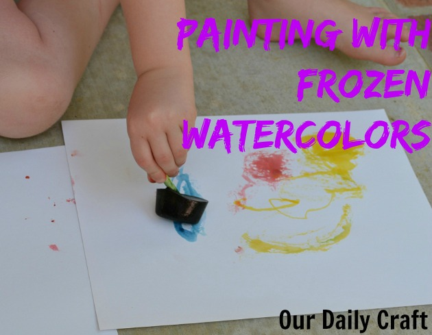 painting with frozen watercolors