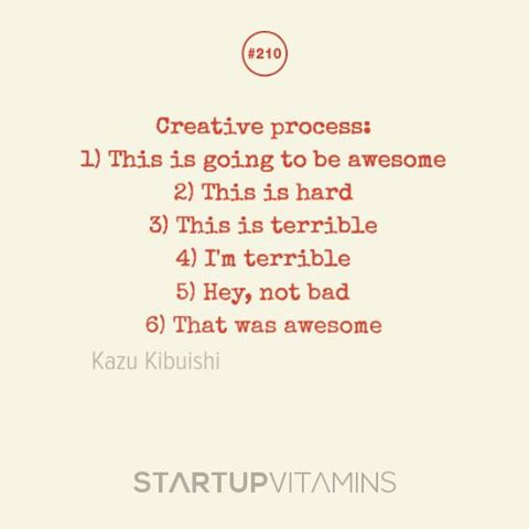 creative process awesome to terrible