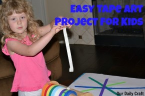Make an easy project with your kids using tape and crayons.