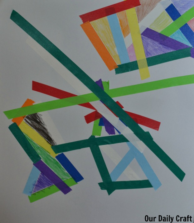 tape crayon art