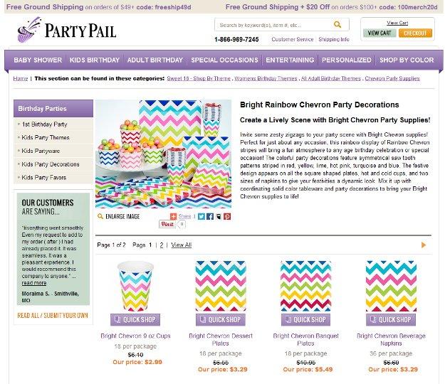 partypail.com party decorations