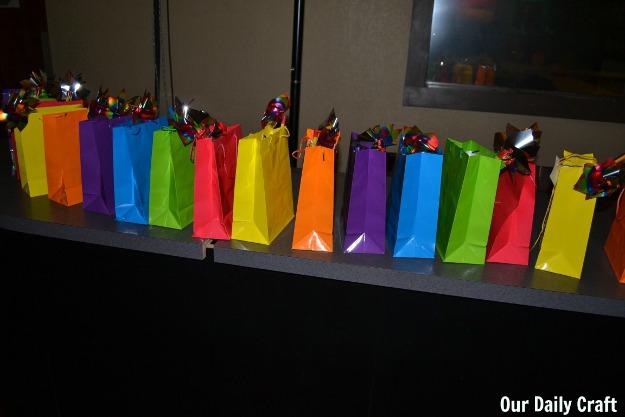 rainbow favor bags