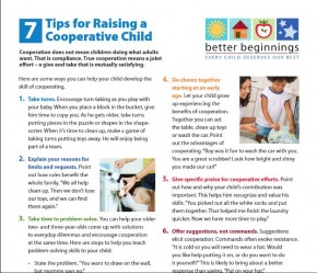 tips for raising a cooperative child