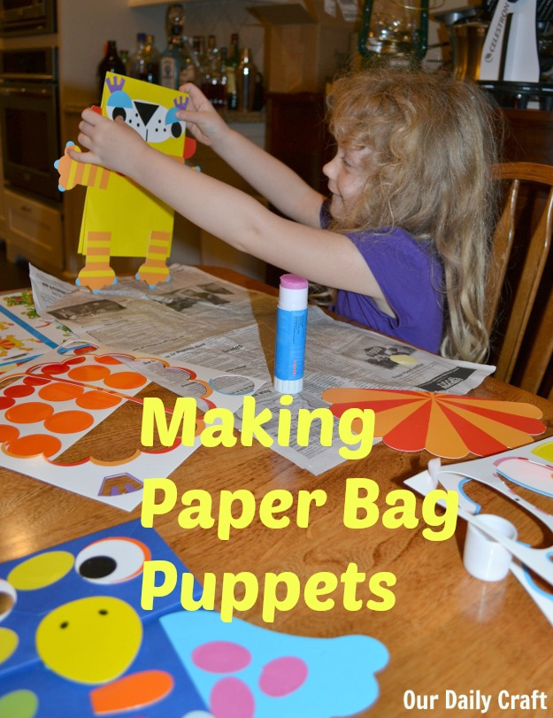 How to make paper bag puppets, with a kit or on your own.