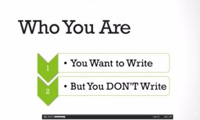Want to write but you aren't? You need Rachael Herron's Udemy course.