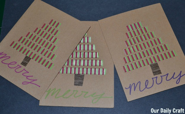 merry christmas tree cards