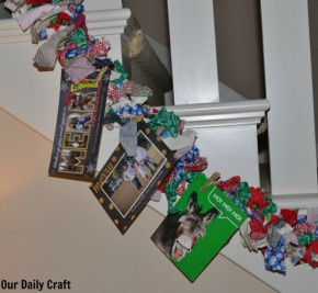 hang cards with glitter clothespins