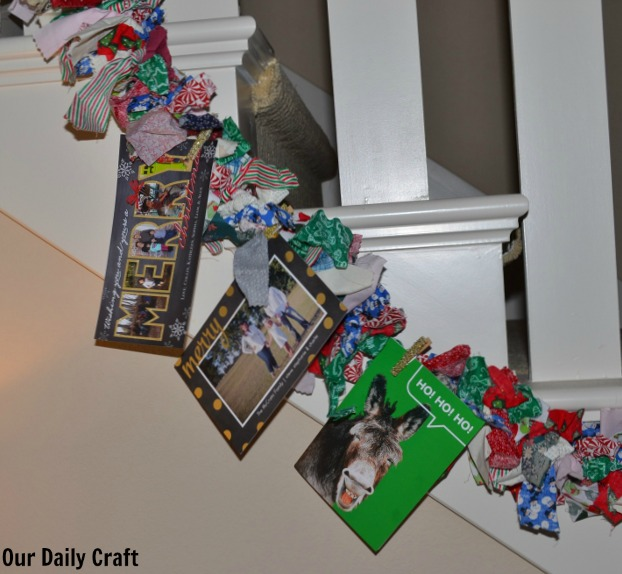 Make Glitter Clothespins to Hold Holiday Cards