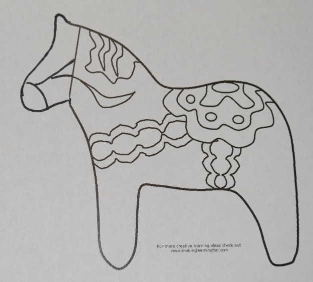 dala horse outline