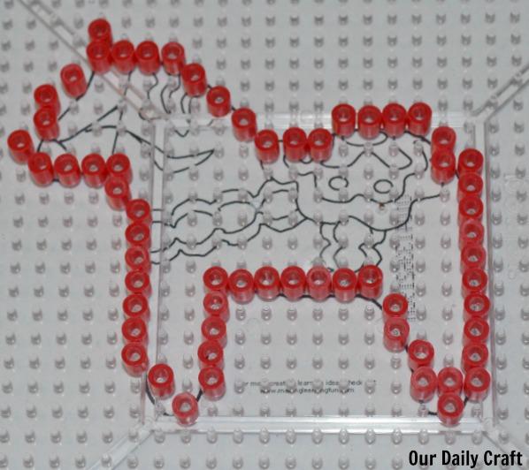 perler bead dala horse outline