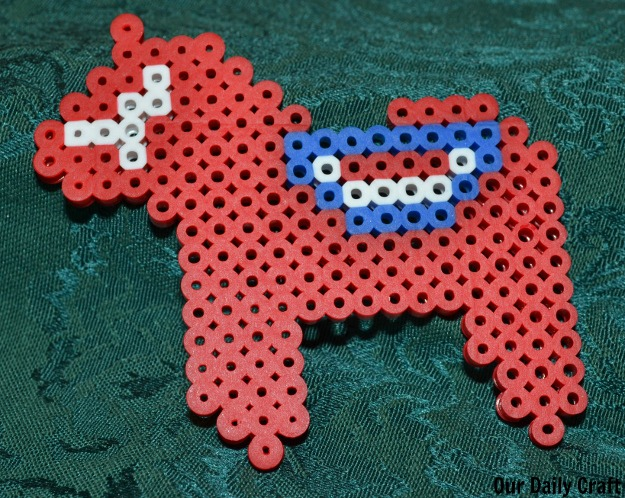 finished dala horse ornament