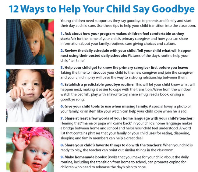 ways to help a clingy child transition to school