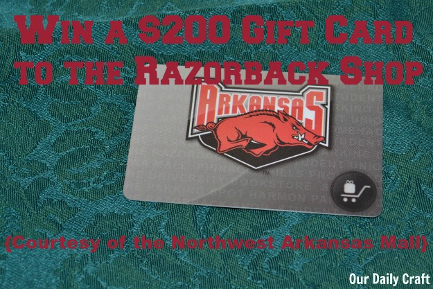 Win a $200 gift card to the Razorback Shop at the Northwest Arkansas Mall!