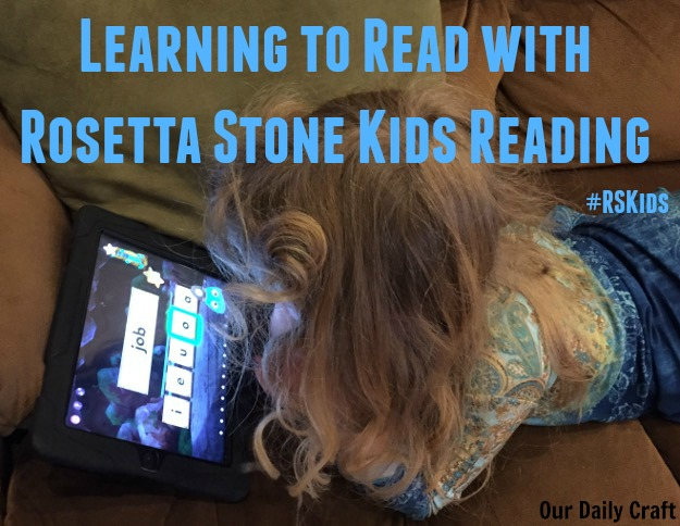 Learning to read with Rosetta Stone #RSKids #MC