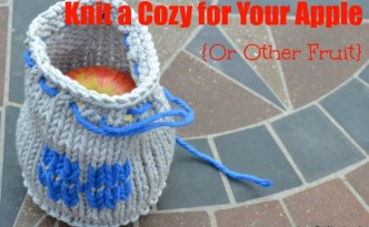 KNit a simple bag to use as a carrier for fruit.