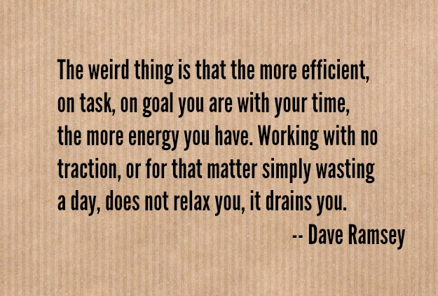dave ramsey on productivity