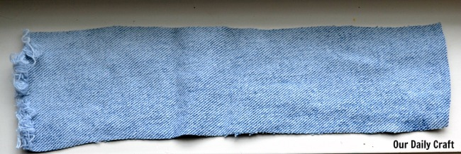 denim curtain tieback diy