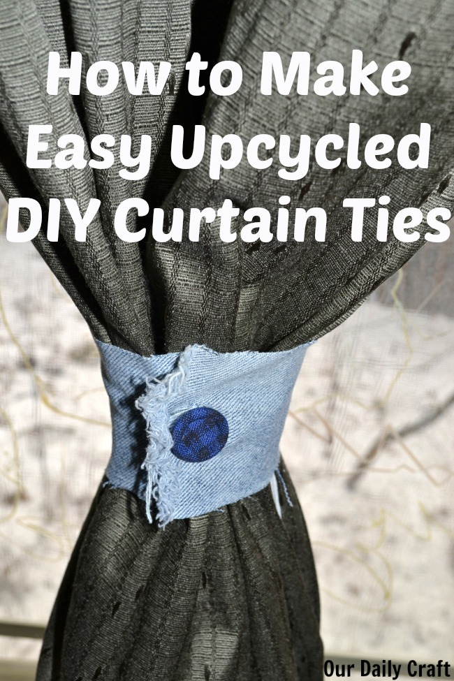 how to make curtain tiebacks