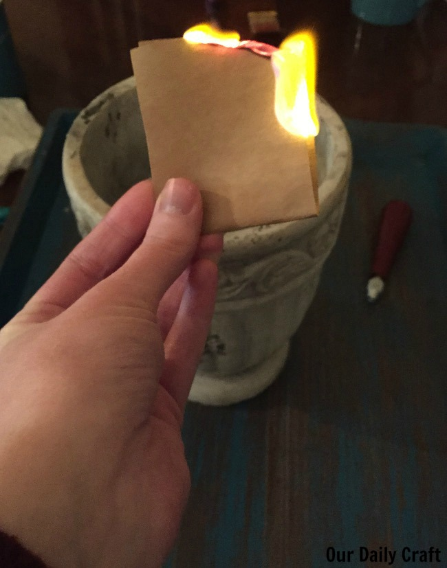 A burning ritual is a great way to get past old feelings.