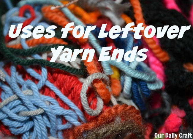 uses for leftover yarn ends