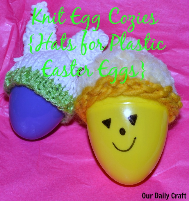 knit egg cozies for plastic easter eggs