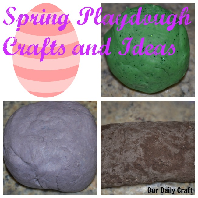 spring playdough crafts, recipes and ideas