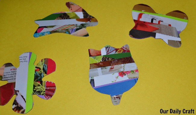 cut out junk mail collage shapes