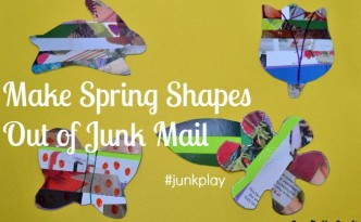 junk mail collage shapes