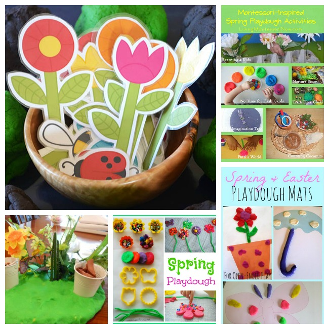 playdough ideas spring