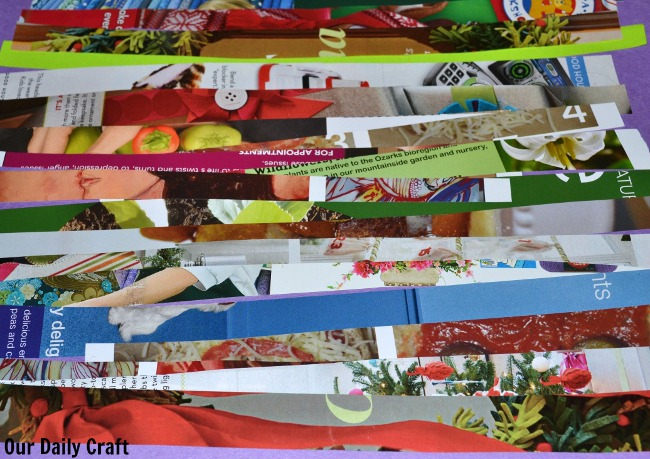 collage paper strips