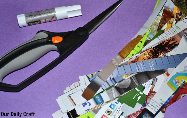 junk mail collage supplies