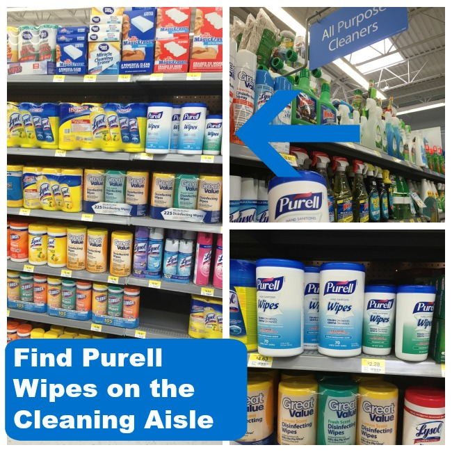 find purell hand santizing wipes at a local walmart