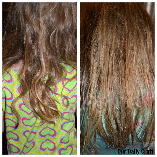 before and after knot genie hair