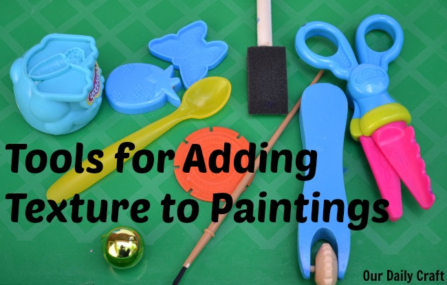 tools to add texture to paintings