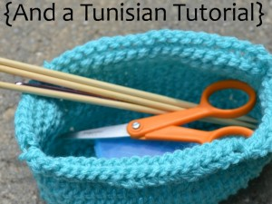 tunisian crochet basket